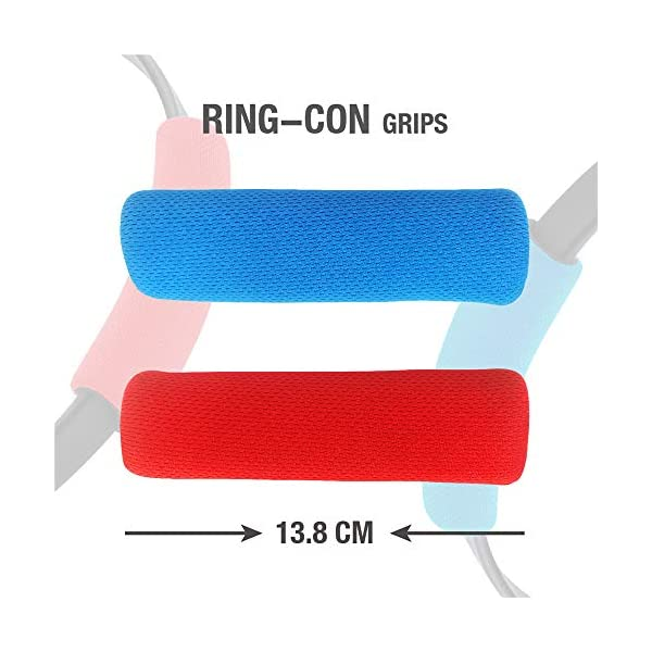 SweetCom Ring-Con Grips and Adjustable Leg Fixing Strap for Nintendo Switch Fit Adventure Game (NOT Include Ring-Con) 3