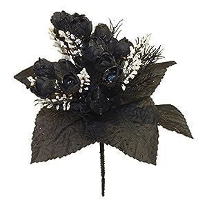 "13"" Mini Rose Bud Bush Artificial Silk Wedding Bouquet Craft Flowers Home Decor 7 Stems 21 Roses 79"