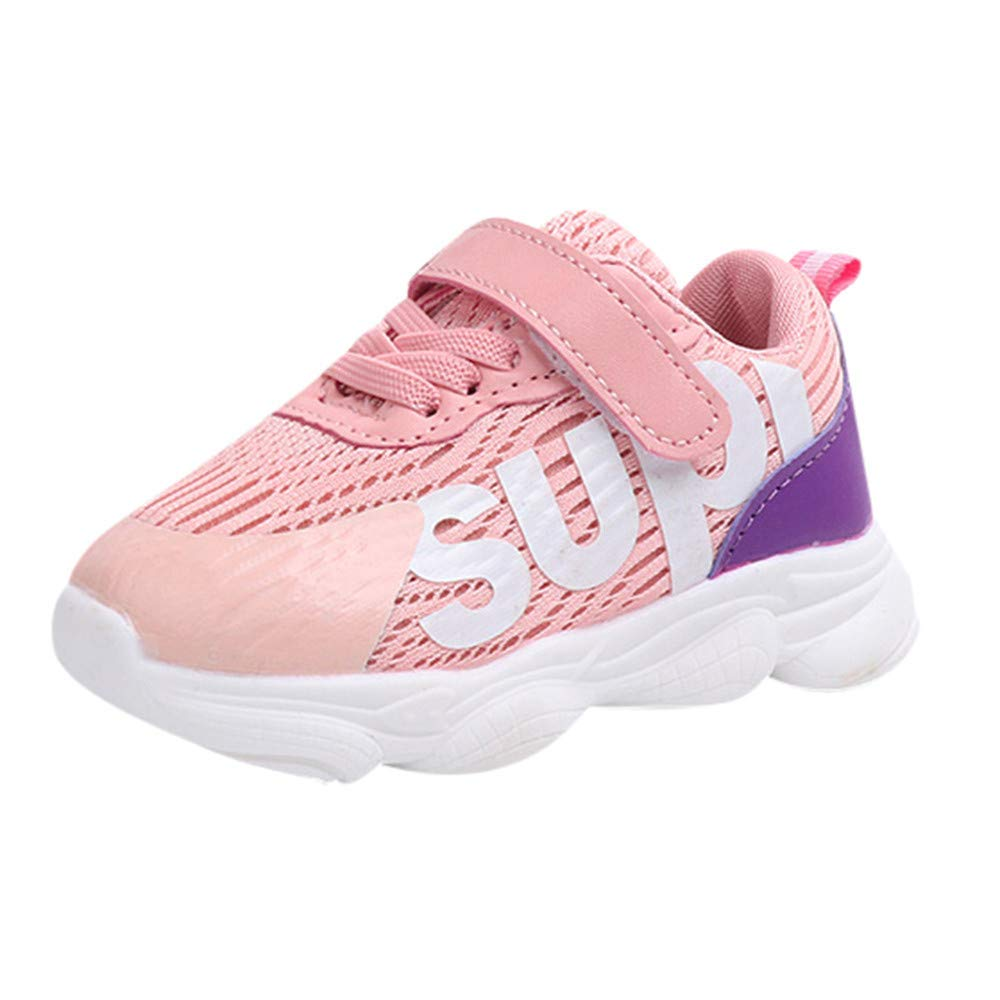 Minisoya Toddler Kids Sport Outdoor Running Sneakers Casual Baby Boys Girls Letters Printed Mesh Shoes
