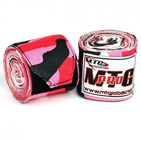 MTG Pro 5m Elasticated Hand Wraps Red