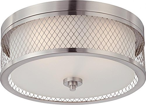 Nuvo 60/4691 Fusion Brushed Nickel Flush by - Fusion Nickel Brushed