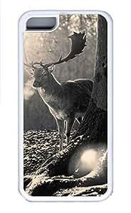 iPhone 5c case, Cute Stag Winter iPhone 5c Cover, iPhone 5c Cases, Soft Whtie iPhone 5c Covers