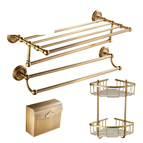 Copper antique Towel rack/ Retro towel rack/European bathroom hardware accessories-O hot sale 2017