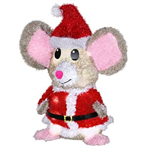 Gemmy 1.54-ft Merry Mice Santa Clause Outdoor Christmas Decoration with LED White Lights
