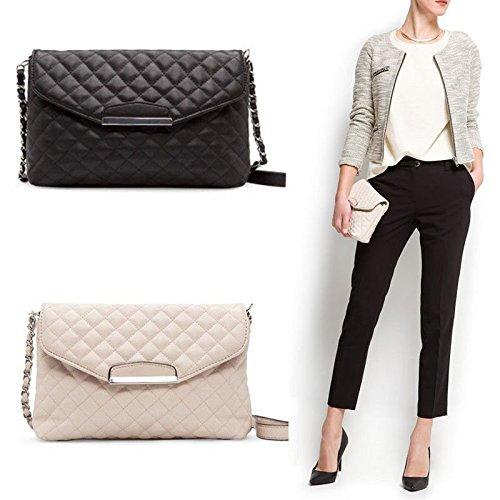 Fashion Women Shoulder Bag Leather Clutch Handbag Tote Purse Hobo Messenger Bag Black (Bcbg Black Bag)