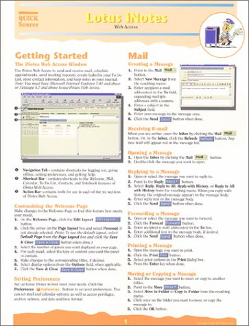 Lotus iNotes Quick Source Reference Guide