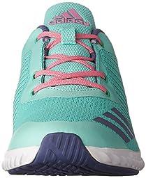 adidas Performance Girls\' Fortarun K Running Shoe, Easy Green/Super Purple/Easy Pink, 3.5 M US Big Kid