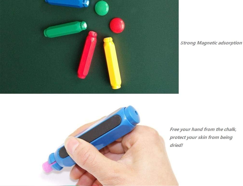 Blackboard Adjustable Chalk Clip Set 3 Colors Chalk Holder//Chalk keeper with Storage Hard Case