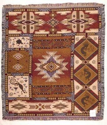 Deluxe Tapestry (Kokopelli Mid-Size Deluxe Tapestry Throw Blanket USA Made)