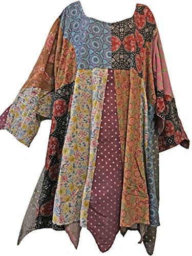 Nwt FUNKY STUFF patch hippy hanky cotton corduroy TOP TUNIC DRESS 7X runs small