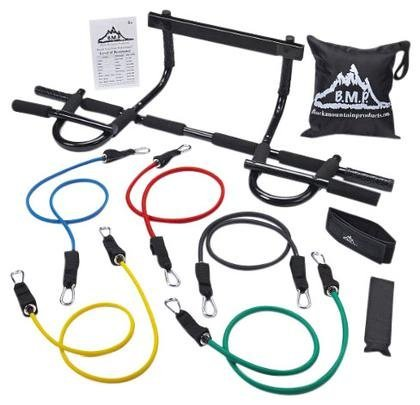 Black Mountain Products Heavy Duty Chin Up Bar and Resistance Bands (P90x Chin Up Bar compare prices)