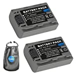 amsahr B-NPFP50-2CT Digital Replacement Camera and Camcorder Battery for Sony NP-FP50, NPFP30, DCR 30 (Gray)