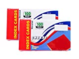 2-Pack Colored Index Cards, 3x5-Inch, Unruled, Cherry, 100-Count per Package from Northland Wholesale. (2 Packs of 100)