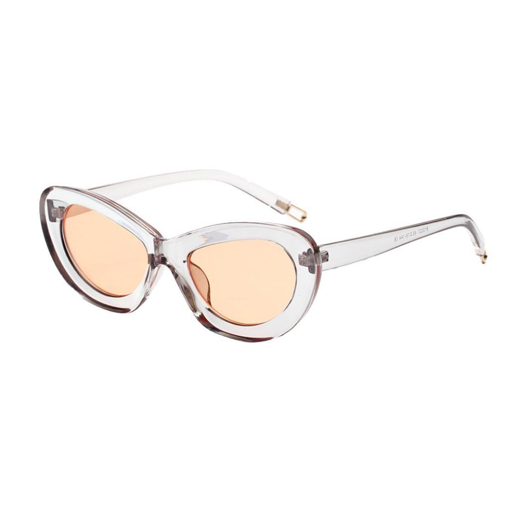 URSING Hommes Femmes Petit Cadre Oeil de Chat Ovale Rétro Lunettes de Soleil  Vintage Lunette Eyeglasses Rétro Unisexe Fashion Sunglasses Personnalité  Mode ... beca09f4fa1c