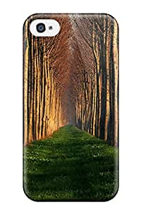 High Quality SaundraVillard Row Of Trees Forest Earth Nature Forest Skin Case Cover Specially Designed For Iphone - 4/4s