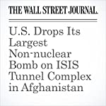 U.S. Drops Its Largest Non-nuclear Bomb on ISIS Tunnel Complex in Afghanistan   Ben Kesling,Carol E. Lee