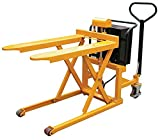 High Lift Pallet Jack - BTAL Series; Fork Size (W x L): 21'' x 43''; Capacity (lbs.): 2,200; Service Range: 3-1/2'' to 33''; Operation: 12V DC; Works With: Open-bottom Skids & Boxes