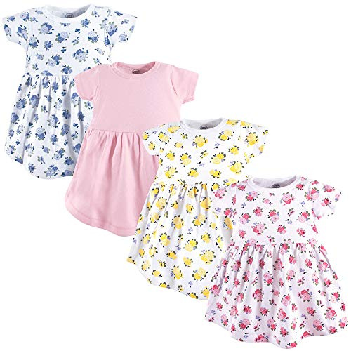 Luvable Friends Cotton Dress, 4 Pack, Floral, 4T