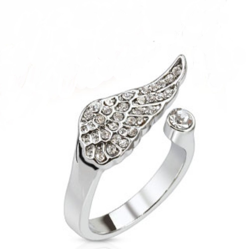 Elegant Angel Wings CZ Freedom Fashion Mid-Ring/Toe Ring 316L Surgical Steel
