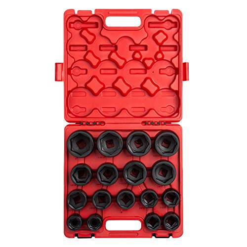 Sunex 4683, 3/4 Inch Drive Heavy Duty Impact Socket Set, 17-Piece, SAE, 1