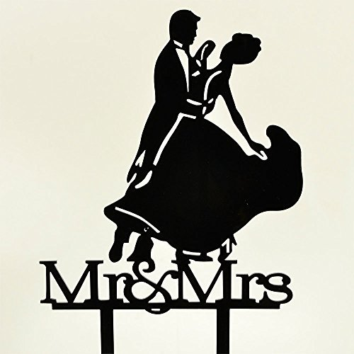 hiusan First Dance Bride & Groom Wedding Cake Toppers Acrylic ()