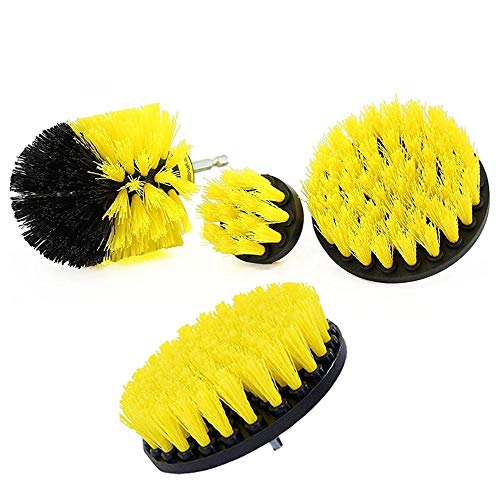 - Fan-Ling 4pcs Drill Brush Kit, Cleaning Brush Cleaner Combo Tool Kit for Bathroom Surfaces,Tub, Kitchen,Shower, Toilet,Tile and Grout All Purpose Power Scrubber Cleaning Kit,4 SIZE (A)