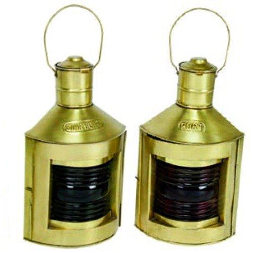 Antique Brass Finish Port & Starboard Ship's Lanterns