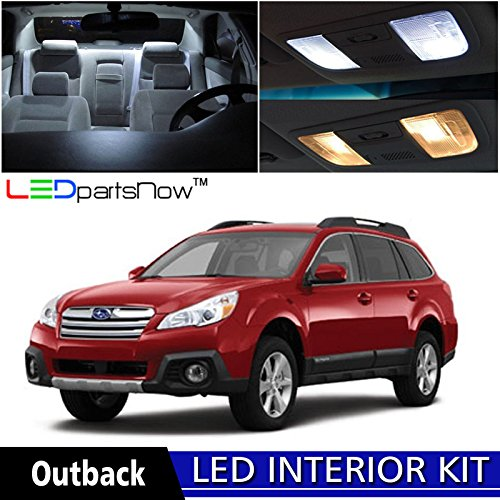 4 Subaru Outback LED Interior Lights Accessories Replacement Package Kit (6 Pieces), WHITE ()
