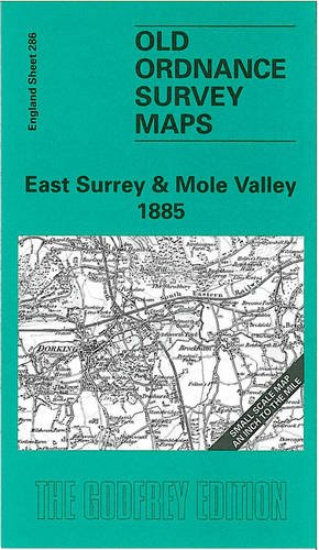 OLD ORDNANCE SURVEY MAP EAST SURREY MOLE VALLEY 1885 HORLEY REDHILL REIGATE