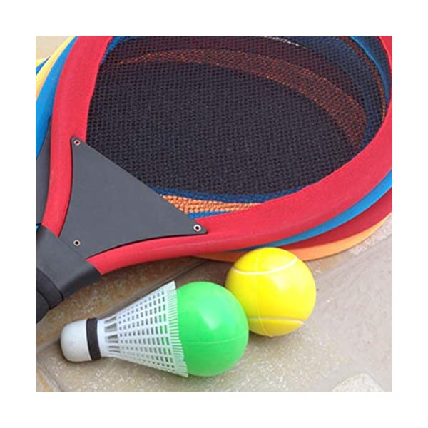LIOOBO Set da Badminton in plastica per Bambini con 2 Racchette, Racchetta da Tennis, Gioca con Giochi da Spiaggia (Blu) 2 spesavip