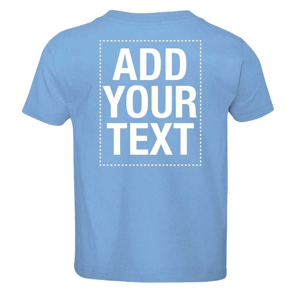 Make Your Own Shirt Text Image Front Back Boys Girls Toddler Custom T-Shirt