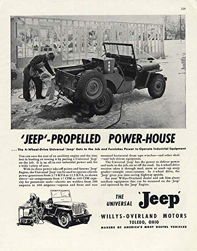 (Jeep-Propelled Power-House Willys-Overland Jeep ad 1948 F)
