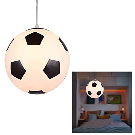 Outgeek Lámpara De Techo Creativa Lámpara De Techo E27 Baloncesto Lámpara De Techo De Fútbol Lámpara Colgante Sin Bombilla