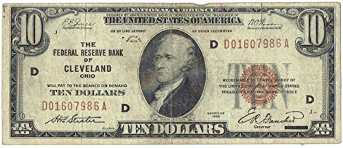 Federal Reserve Banknote (1929 $10 United States Federal Reserve Bank Note)