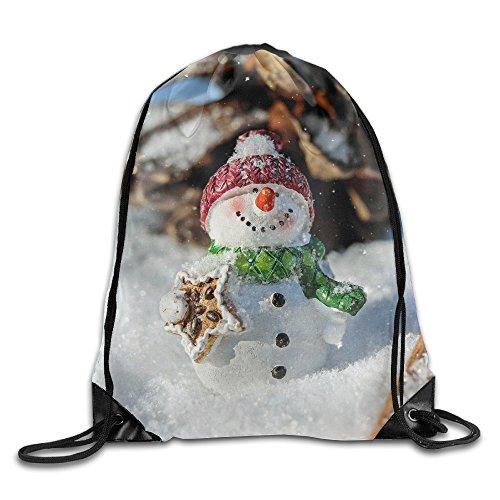 (RESS TGR Snowman Lightweight Drawstring Bag Sport Gym Backpack Gym Bag for Men and Women)