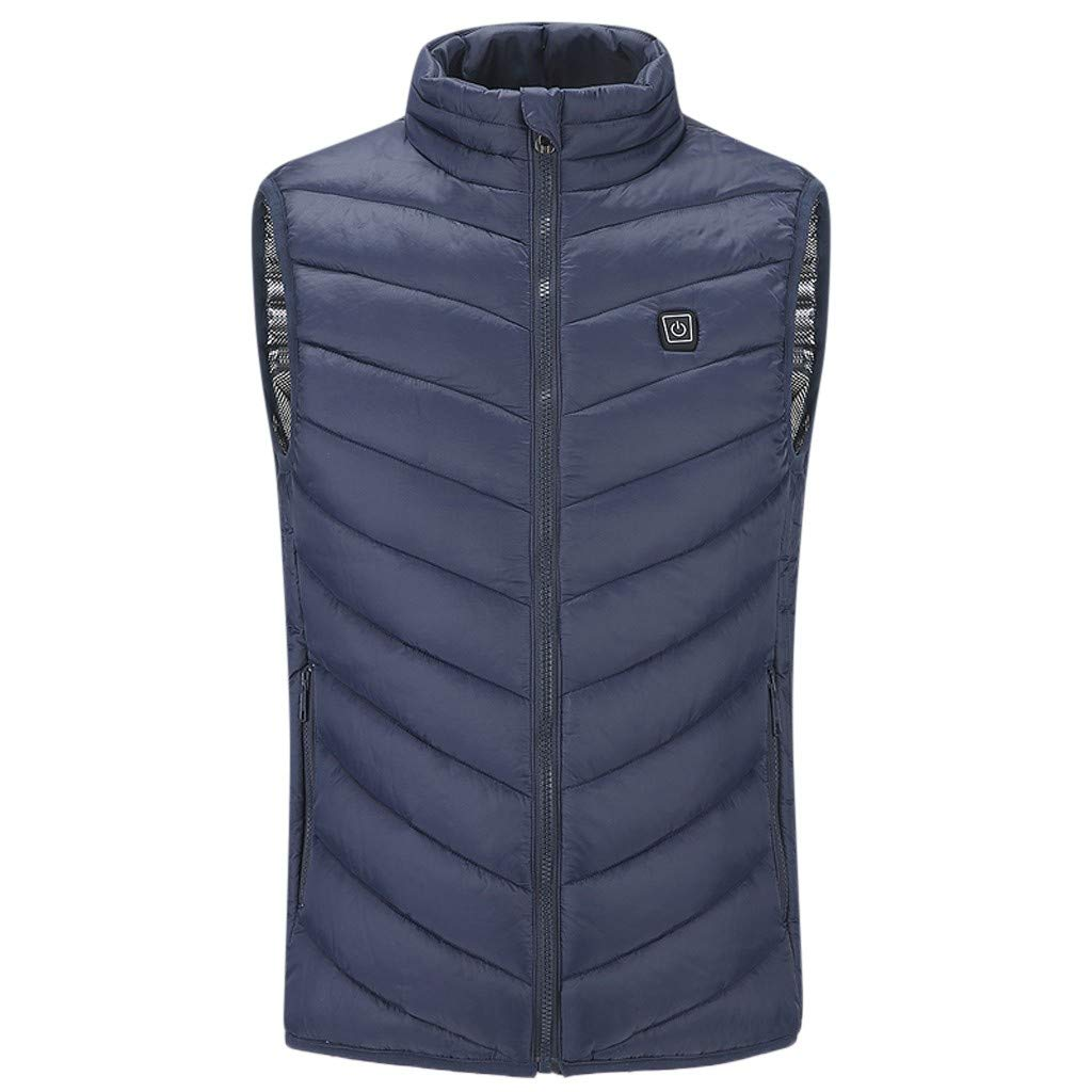 VEZARON Men's Lightweight Winter Quilted Puffer Down Vest Outerwear with Pockets M-5XL by VEZARON