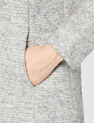 Abrigo lana mujer gris