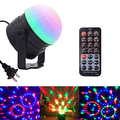 AMANEER Party Lights Sound Activated Disco Ball Night Lamp with Remote Control Dj Lighting,6 Modes Stage Par Lights Disco Lights Led Neon Night Light Gifts for Birthday Kids Xmas Home -