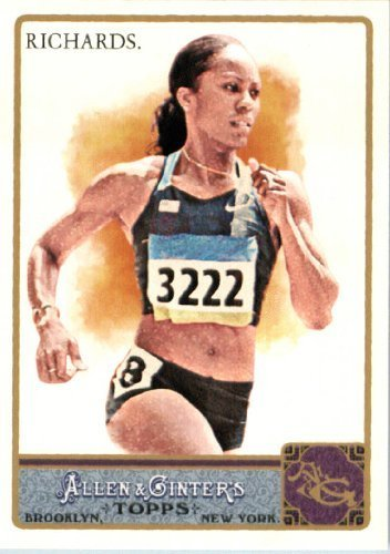 2011 Topps Allen And Ginter Limited Edition Glossy Baseball Card   148 Sanya Richards   Track And Field Oylmpic Gold Medalist  Serial  D To 999   Mlb Trading Card
