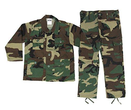 Kids Woodland BDU Uniform 2 Piece Set - Kids Military Costume - Small