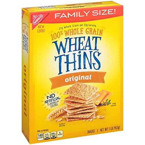 Wheat Thins Crackers (Original, 16-Ounce Boxes, 6-Pack)(Packaging may vary)