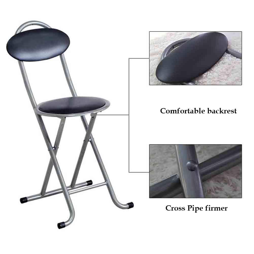 Excellent 30 5Cm Portable Folding Chair 46 Dldl Black Round Padded Unemploymentrelief Wooden Chair Designs For Living Room Unemploymentrelieforg