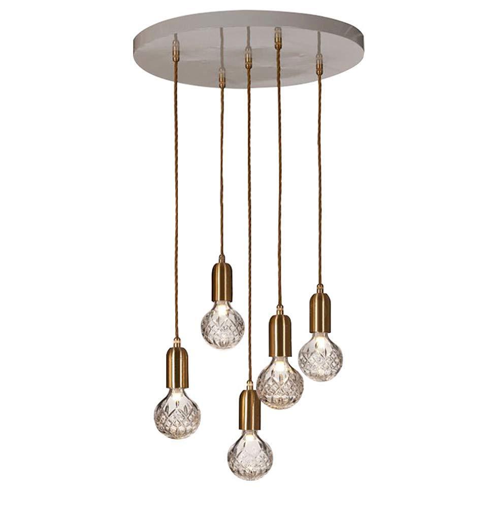 Phil lamps Nordic Einfachen Kronleuchter 1 5 Kristallglas Restaurant Persönlichkeit Kunst Führte Bar Loft Moderne Lampen Einstellbar 100cm,5heads