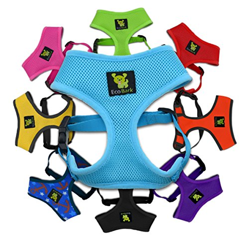 Max Comfort Dog Harness; 6-10 lbs, Innovative No Pull & No Choke Design, Soft Double Padded Vest for Control, Eco-Friendly w/Quick Release, for Puppies and Small Dogs (Blue, Small)