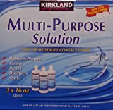 Kirkland Signature Multi-Purpose Sterile Solution for Any Soft Contact Lens, 3 Count (16 oz bottles)