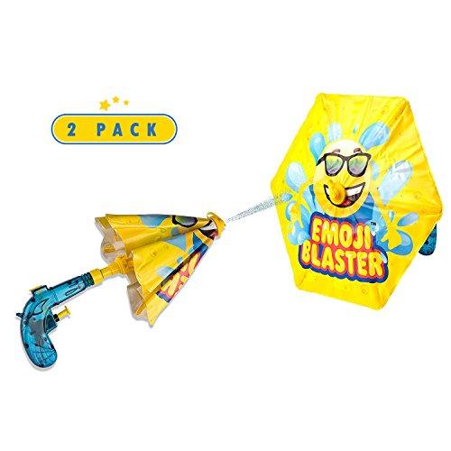 (2 Pack Emoji Blaster Water Gun Squirt Pistol With Umbrella Shield For Kids- Outdoor Children Fun Summer, Pool, Beach, and Backyard kids Water Toys Super Soaker)