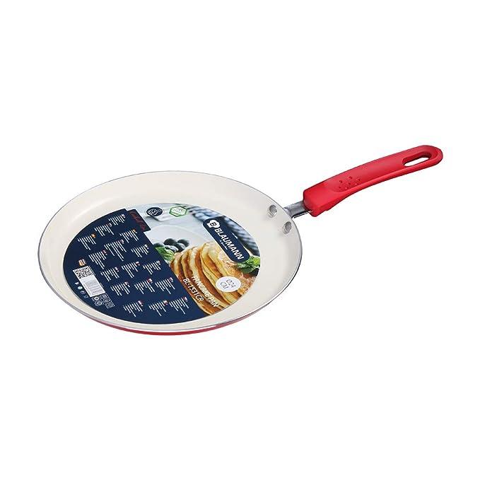 Blaumann Pancake Crepé, aluminio fundido con revestimiento de mármol de 24 cm, negro mármol línea alta calidad Cookware Family Blaumann BL-1531MB rosso: ...
