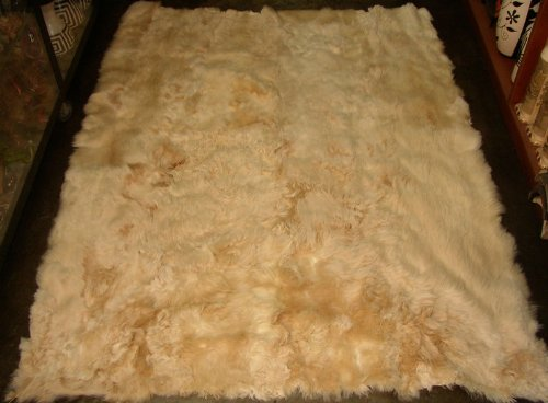 100% Peruvian Baby Alpaca Fur Rug Beige 57'' X (Baby Alpaca Rug)