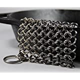 "Knapp Made CM Scrubber 4"" Chainmail Scrubber - For Cast Iron, Stainless Steel, Hard Anodized Cookware and Other Pots & Pans"