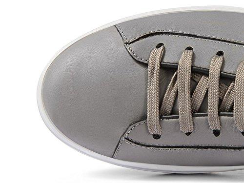 Hogan zapatillas H302 en cuero gris con costura - Número de modelo: HXM3020W550ETV180R gris